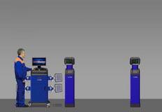 Компьютерный стенд для измерения углов установки колес по технологии 3D. Т7202М