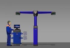 Компьютерный стенд для измерения углов установки колес по технологии 3D. V7204Т